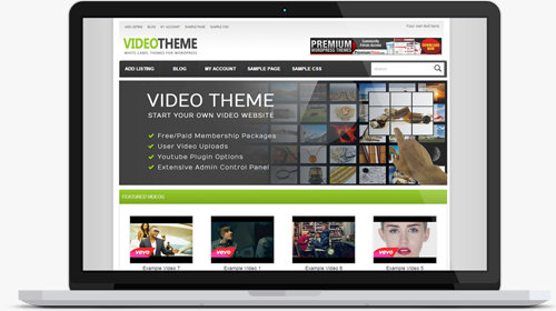 Video Sharing WordPress Theme Review - WP Template 2014