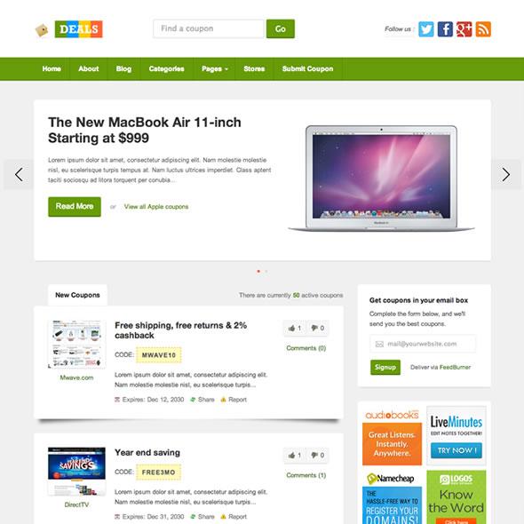 Deals WordPress Theme Review - WP Themes Advisor 2018