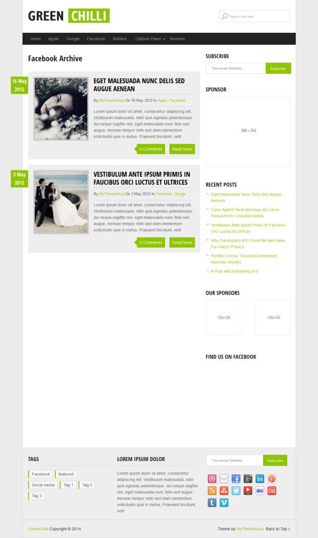 GreenChilli WordPress Theme Review - WP Themes Advisor 2018