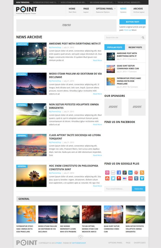 Point WordPress Theme Review - WP Themes Advisor 2018