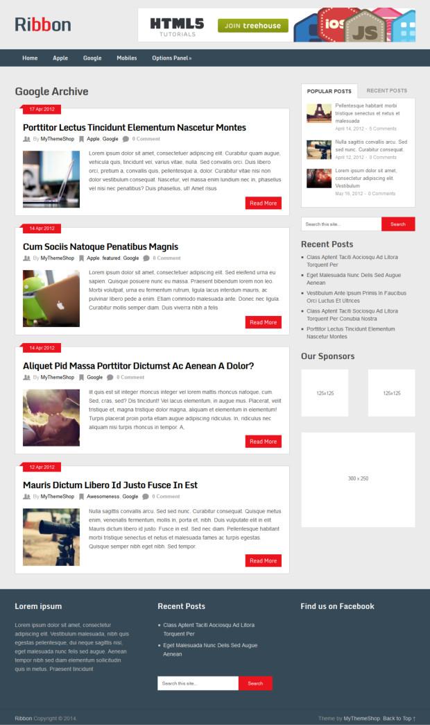 Ribbon WordPress Theme Review - WP Themes Advisor 2018