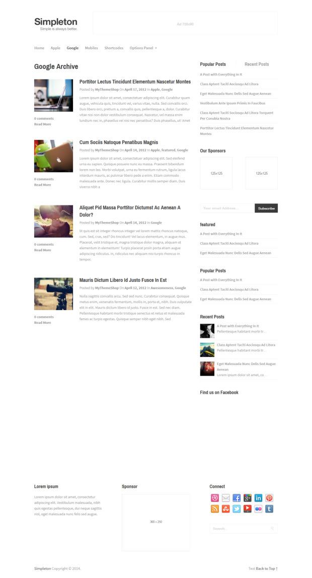 Simpleton WordPress Theme Review - WP Themes Advisor 2018