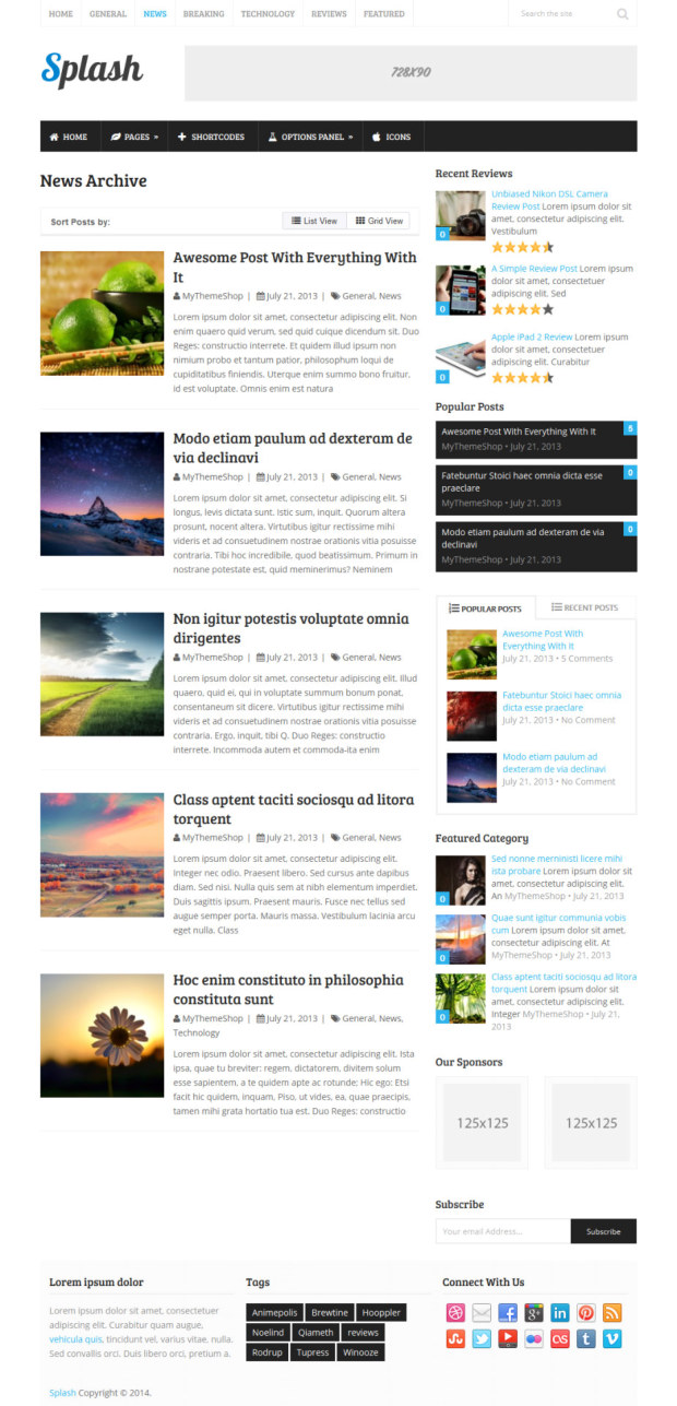 Enchanting wordpress splash page theme ensign example for Wordpress splash page template
