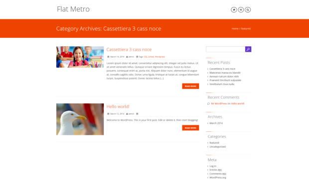 Flat Metro Premium Responsive Wordpress Theme 2015