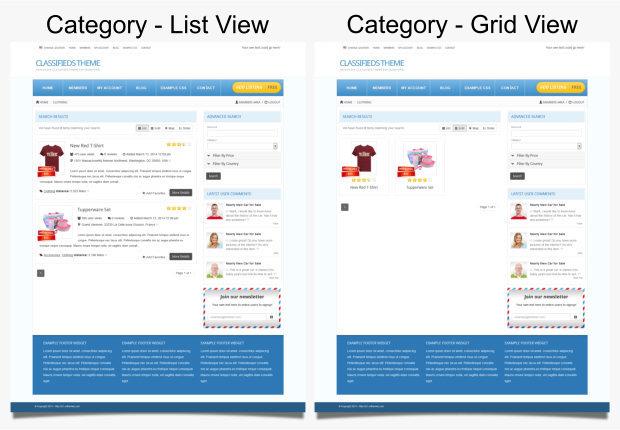 Classified Wordpress Theme Wp Themes 2014